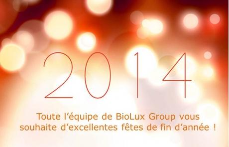 BioLux vous souhaite de chaleureuses fêtes de fin d'année !