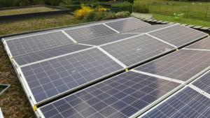 BioLux Panneaux photovoltaïques Trina Solar Honey Plus+ 275 Watt montage toiture plate avec Sunbeam symétrique