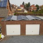 BioLux Modules photovoltaïques Trina Solar Honey Plus+montage toiture plate avec Sunbeam symétrique